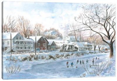 The Hockey Game Canvas Art Print
