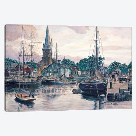 Provincetown Sunset Canvas Print #9486} by Stanton Manolakas Canvas Wall Art