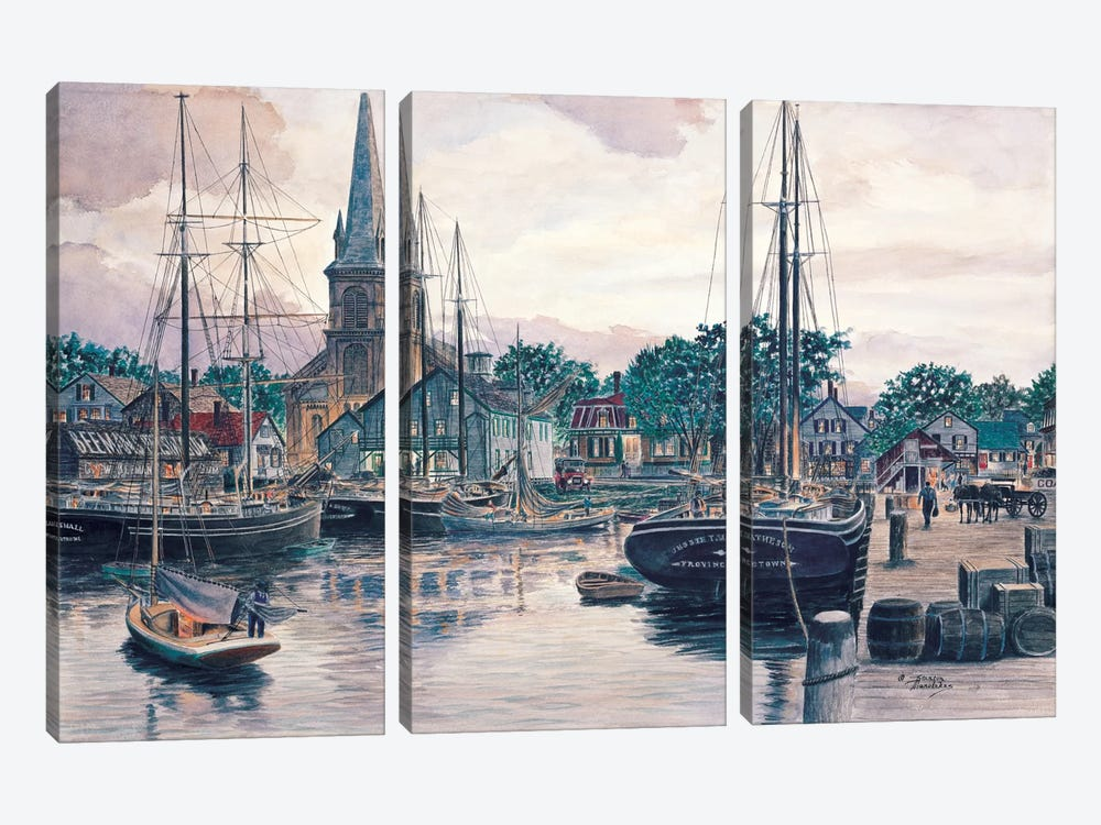 Provincetown Sunset by Stanton Manolakas 3-piece Canvas Artwork