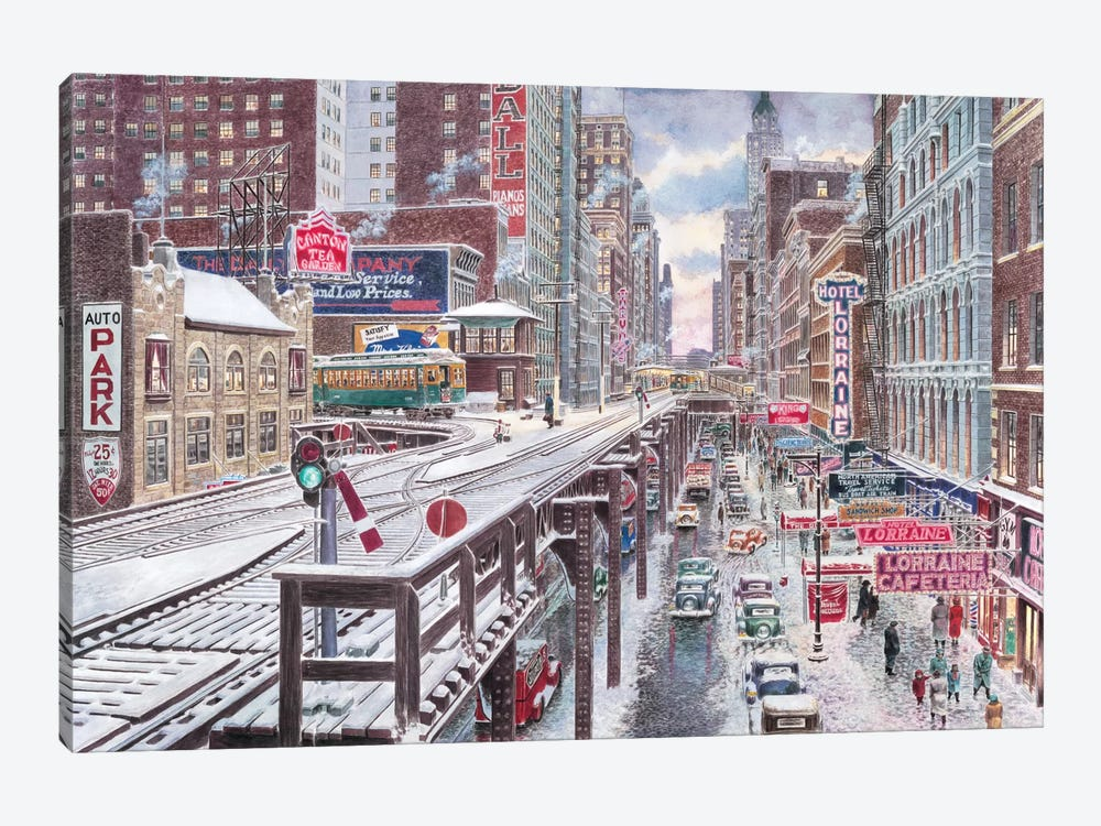 Chicago, The Loop by Stanton Manolakas 1-piece Art Print