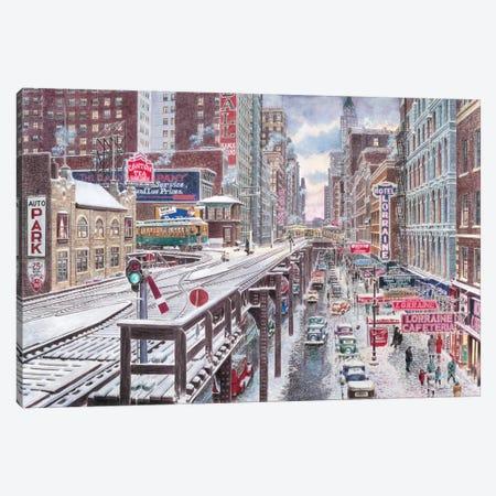 Chicago, The Loop Canvas Print #9487} by Stanton Manolakas Canvas Artwork