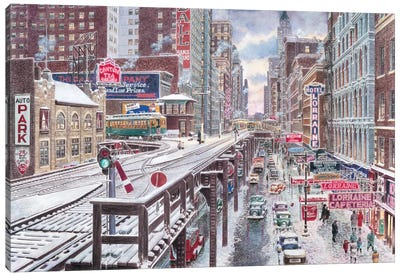 Chicago, The Loop Canvas Art Print