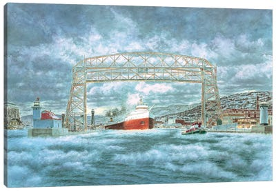 The Edmund Fitzgerald Leaving The Dock Canvas Art Print