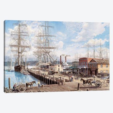 Vallejo St Wharf Canvas Print #9491} by Stanton Manolakas Canvas Art