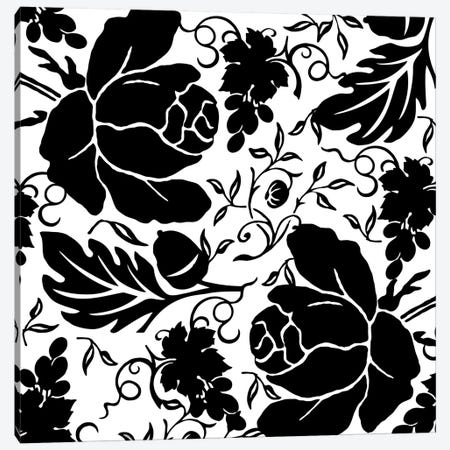 Grapes & Buds Black & White Canvas Print #9500} by Mindy Sommers Canvas Art