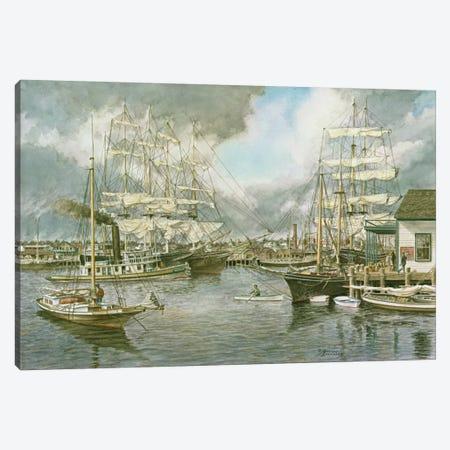 Generic Seaport Canvas Print #9506} by Stanton Manolakas Canvas Art Print