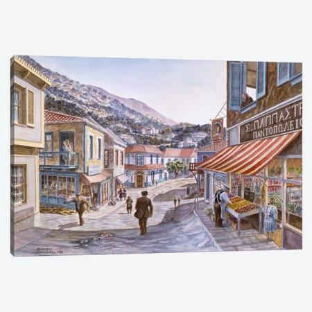 Pink House On Navarino St. Canvas Print #9508} by Stanton Manolakas Canvas Artwork