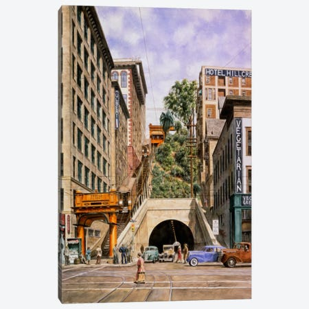 Angels Flight Canvas Print #9509} by Stanton Manolakas Canvas Wall Art