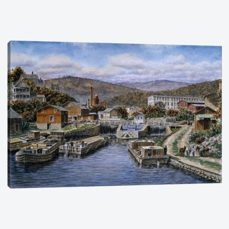 Little Falls, New York Canvas Print #9512} by Stanton Manolakas Canvas Art Print