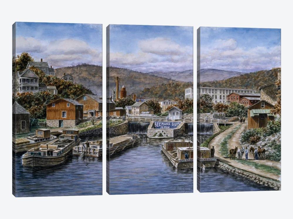 Little Falls, New York by Stanton Manolakas 3-piece Canvas Wall Art