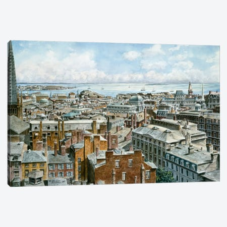 Boston: East From St House 1876 Canvas Print #9513} by Stanton Manolakas Canvas Print