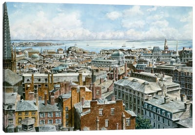 Boston: East From St House 1876 Canvas Art Print