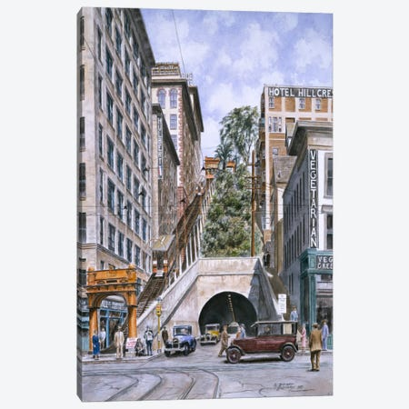 Angels Flight, Los Angeles, CA Canvas Print #9517} by Stanton Manolakas Canvas Artwork
