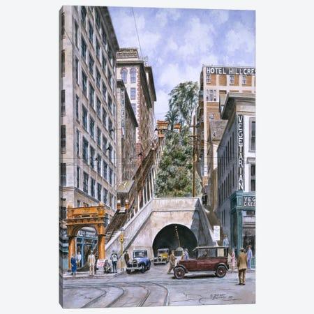 Angels Flight, Los Angeles, CA Canvas Print #9517} by Stanton Manolakas Canvas Artwork