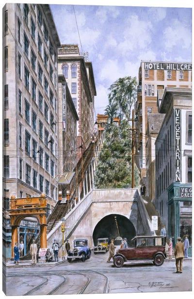 Angels Flight, Los Angeles, CA Canvas Art Print
