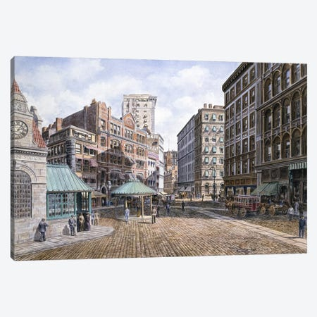 Scollay Square, Ca. 1898 Canvas Print #9519} by Stanton Manolakas Canvas Art Print