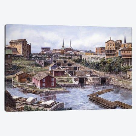 Flight of Five, Lockport, NY Canvas Print #9521} by Stanton Manolakas Canvas Wall Art