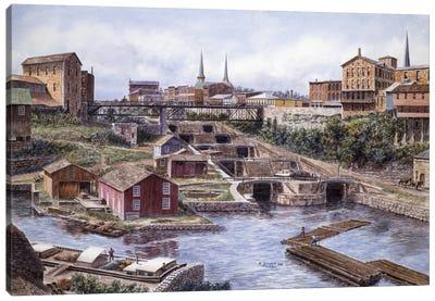 Flight of Five, Lockport, NY Canvas Art Print