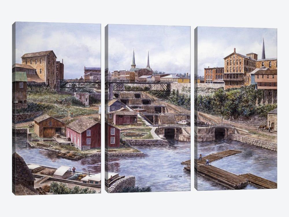 Flight of Five, Lockport, NY by Stanton Manolakas 3-piece Canvas Art