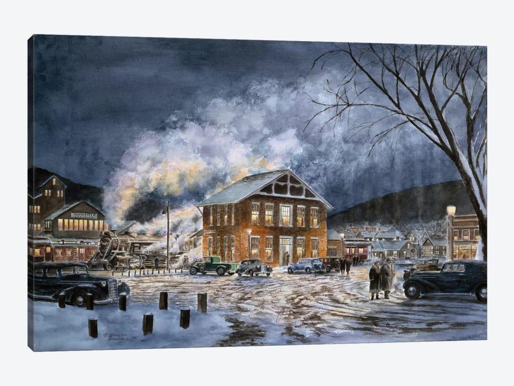 North Field, VT, circa 1940 by Stanton Manolakas 1-piece Canvas Print