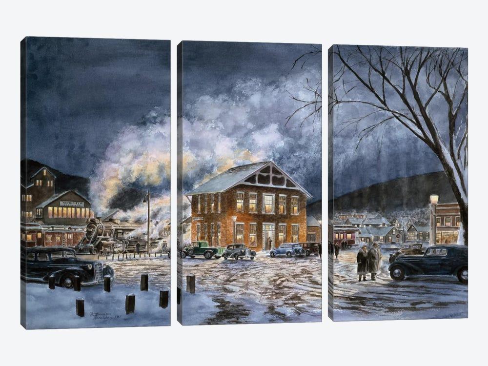 North Field, VT, circa 1940 by Stanton Manolakas 3-piece Canvas Print