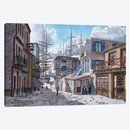 Street Of The Tall Ships Canvas Print #9523} by Stanton Manolakas Canvas Art