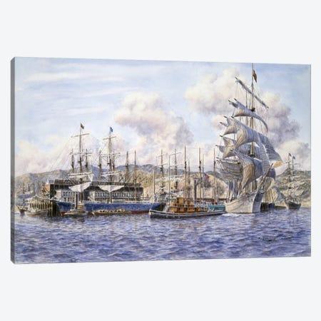Long Wharf, Santa Monica Canvas Print #9524} by Stanton Manolakas Canvas Print