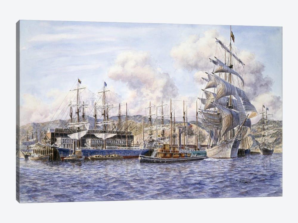 Long Wharf, Santa Monica by Stanton Manolakas 1-piece Canvas Print