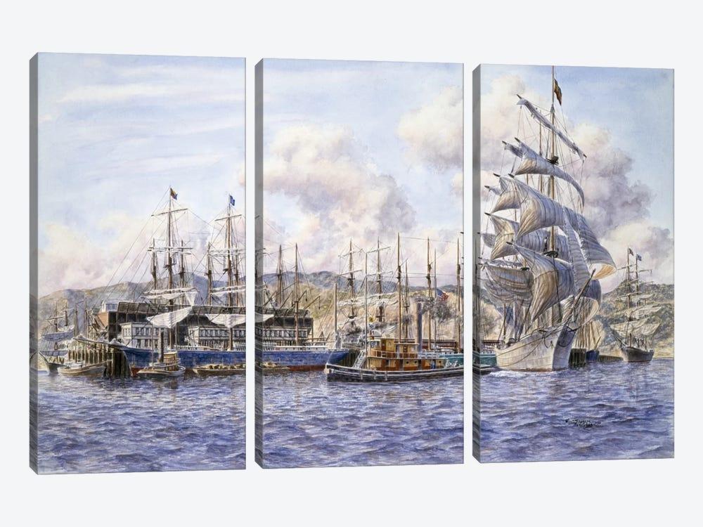 Long Wharf, Santa Monica by Stanton Manolakas 3-piece Canvas Print