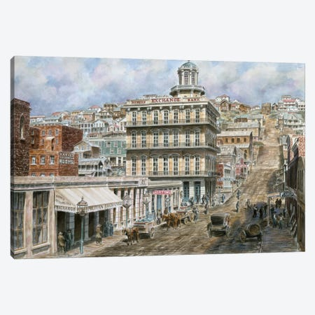 San Francisco: Knob Hill Canvas Print #9526} by Stanton Manolakas Canvas Art Print