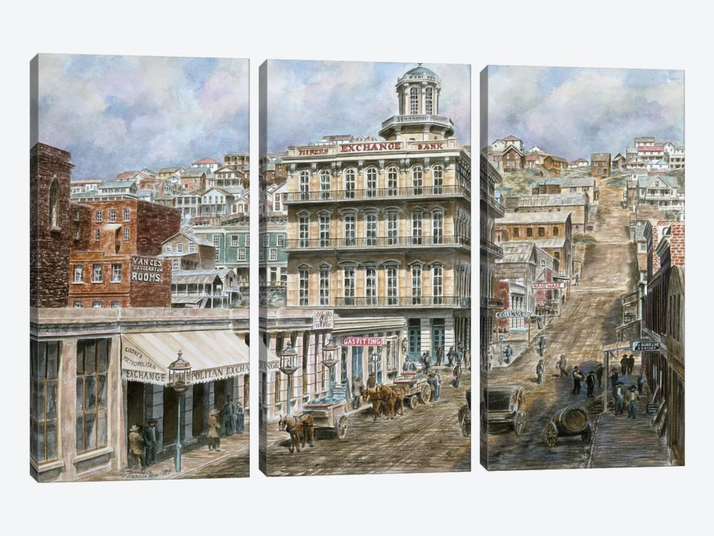 San Francisco: Knob Hill by Stanton Manolakas 3-piece Art Print