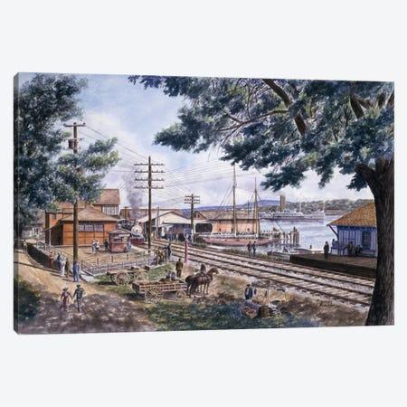 Steam Along Hudson Canvas Print #9527} by Stanton Manolakas Art Print