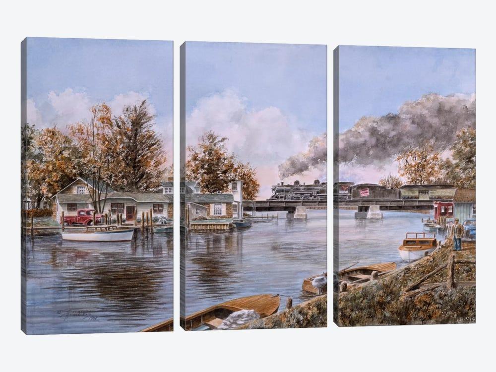 Belle River, Ontario by Stanton Manolakas 3-piece Canvas Art Print