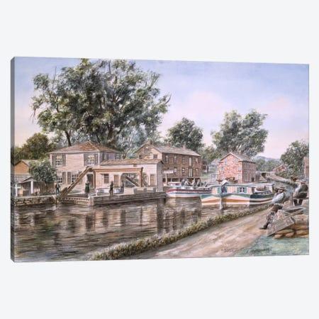 Weigh Locks on Penn Canal Canvas Print #9532} by Stanton Manolakas Art Print