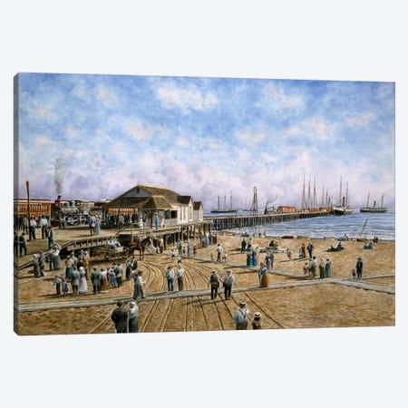 McFadden Wharf, circa 1900 Canvas Print #9534} by Stanton Manolakas Canvas Artwork