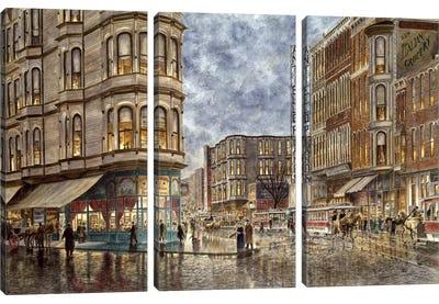 Dinner Hour, San Francisco, Ellis & Market St Canvas Art Print