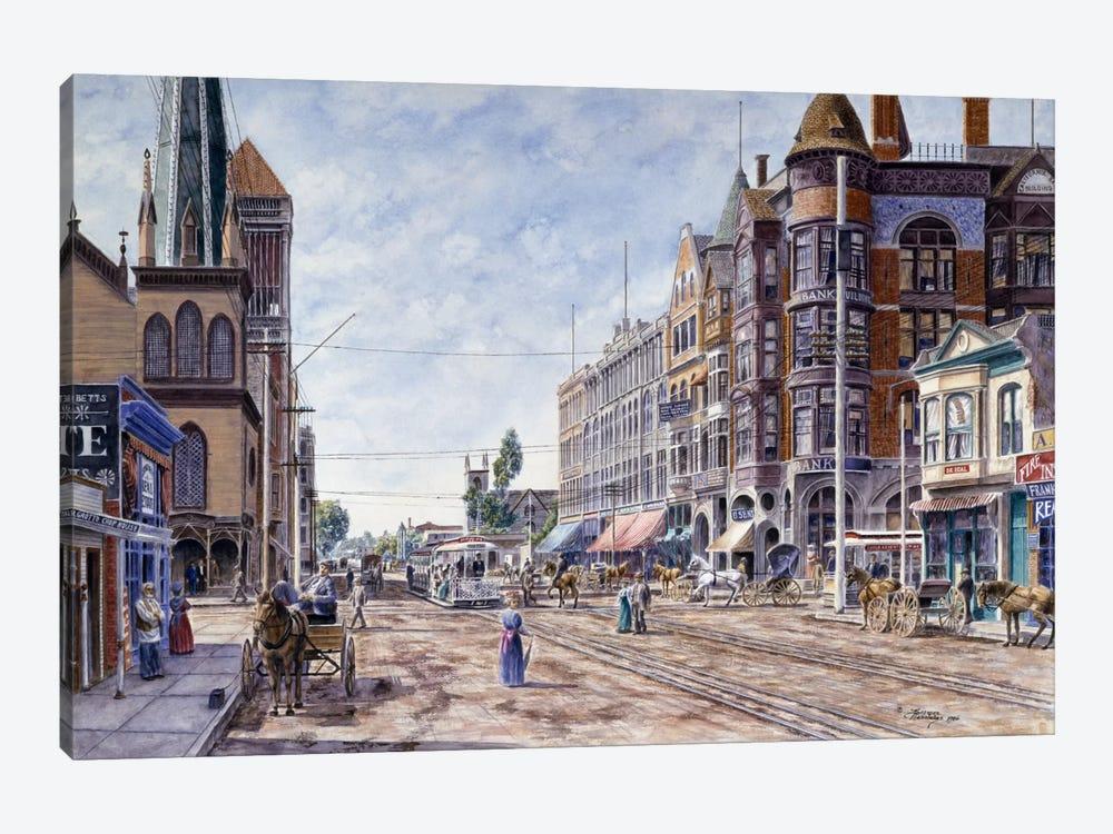 Los Angeles, 2Nd & Broadway by Stanton Manolakas 1-piece Canvas Artwork