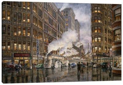 20th Century Limited, Washington & Wharf, Syracuse, New York Canvas Art Print