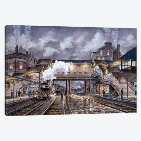 Night Train To Edinbourough Canvas Print #9538} by Stanton Manolakas Art Print