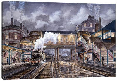 Night Train To Edinbourough Canvas Art Print