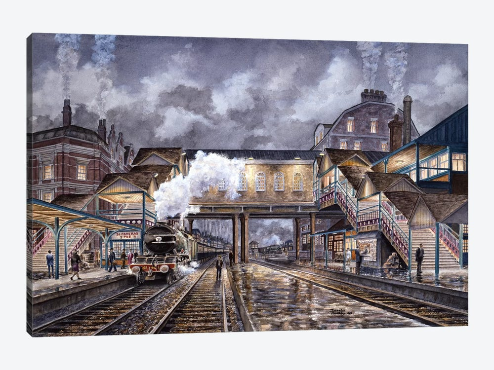 Night Train To Edinbourough by Stanton Manolakas 1-piece Canvas Art