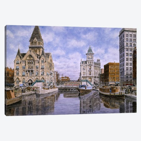 Dewitt Clinton Square, Ca 1907, Syracuse Ny Canvas Print #9539} by Stanton Manolakas Art Print
