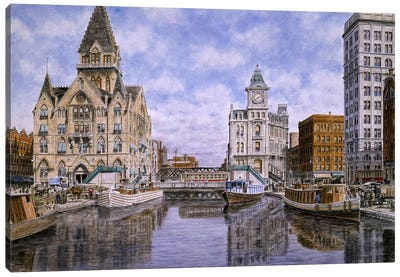 Dewitt Clinton Square, Ca 1907, Syracuse Ny Canvas Art Print