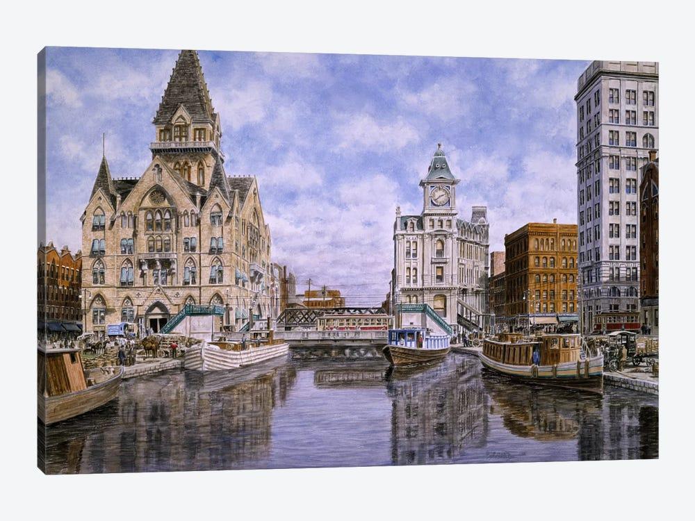 Dewitt Clinton Square, Ca 1907, Syracuse Ny by Stanton Manolakas 1-piece Canvas Print