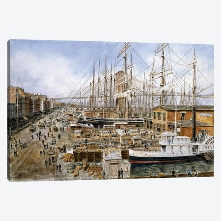 Wall St. Ferry, NY Canvas Print #9540} by Stanton Manolakas Canvas Wall Art