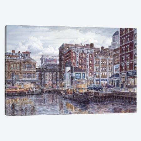 Tugboats & Tenements Canvas Print #9542} by Stanton Manolakas Canvas Artwork