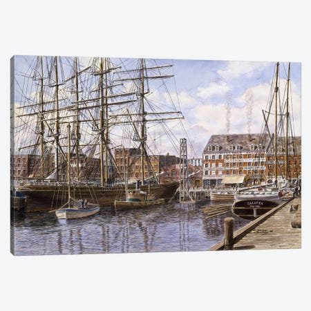 Pier 28, NYC, circa 1876 Canvas Print #9543} by Stanton Manolakas Canvas Art