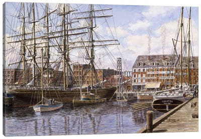 Pier 28, NYC, circa 1876 Canvas Art Print