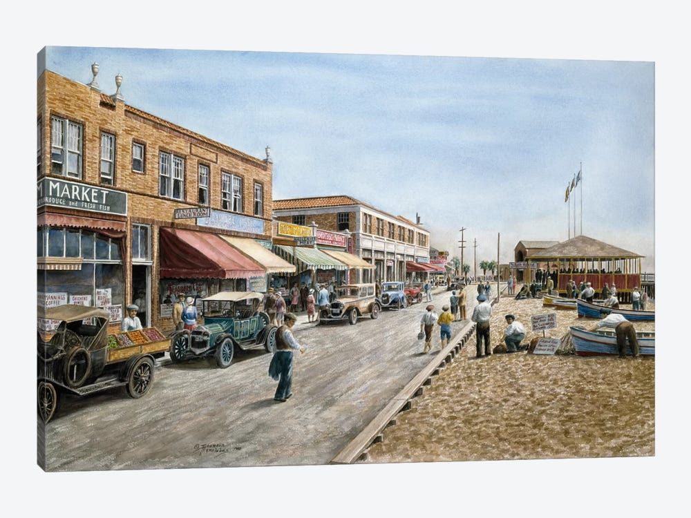 Newport Beach, California by Stanton Manolakas 1-piece Canvas Print