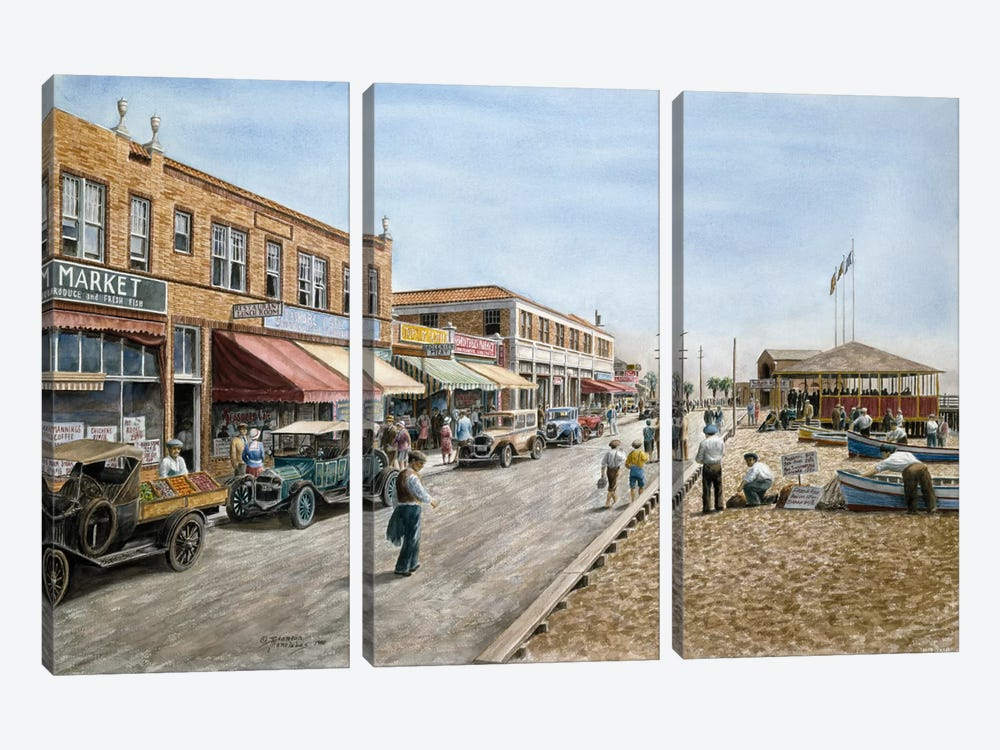 Newport Beach, California by Stanton Manolakas 3-piece Canvas Print